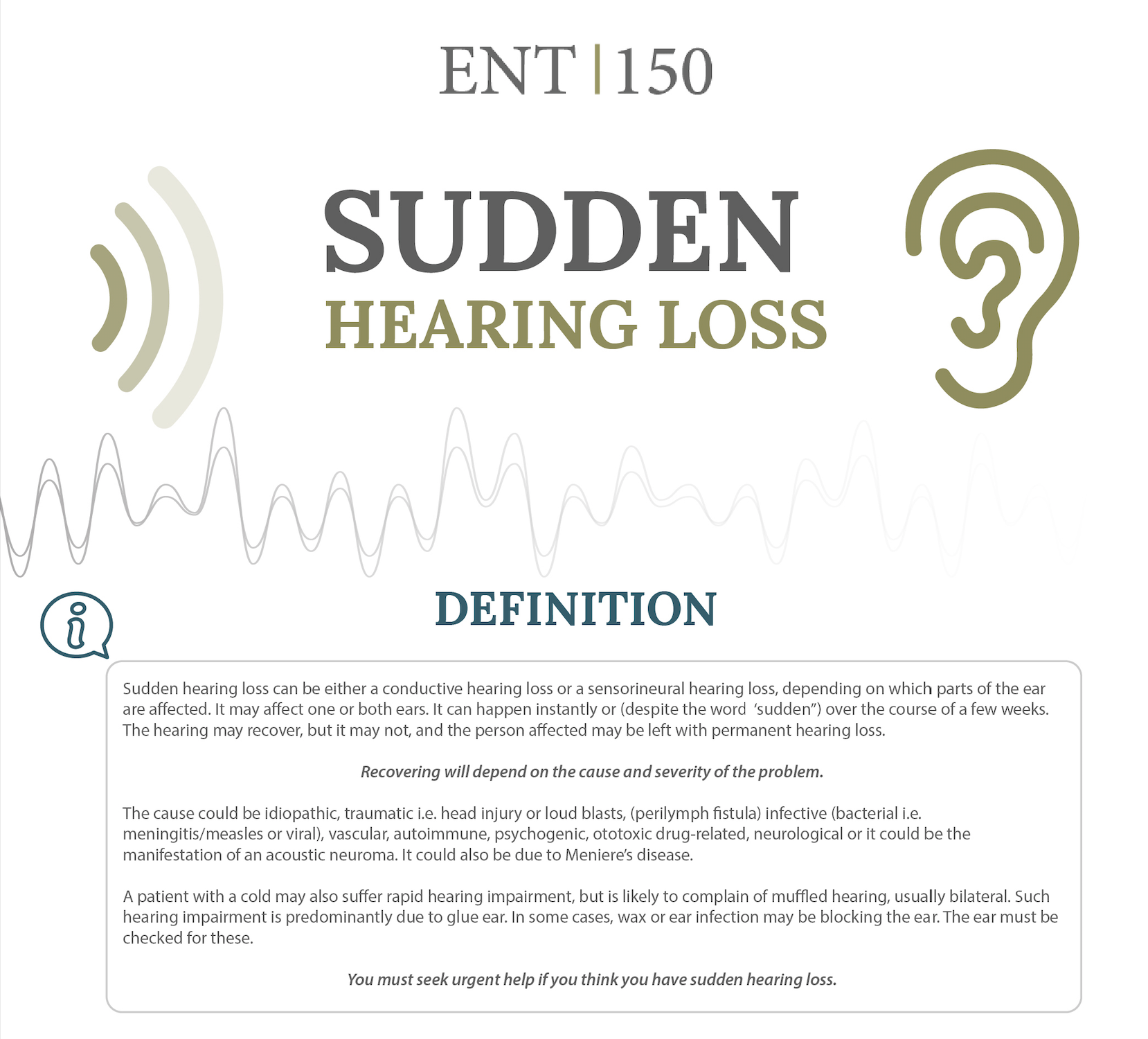 sudden hearing loss infographic