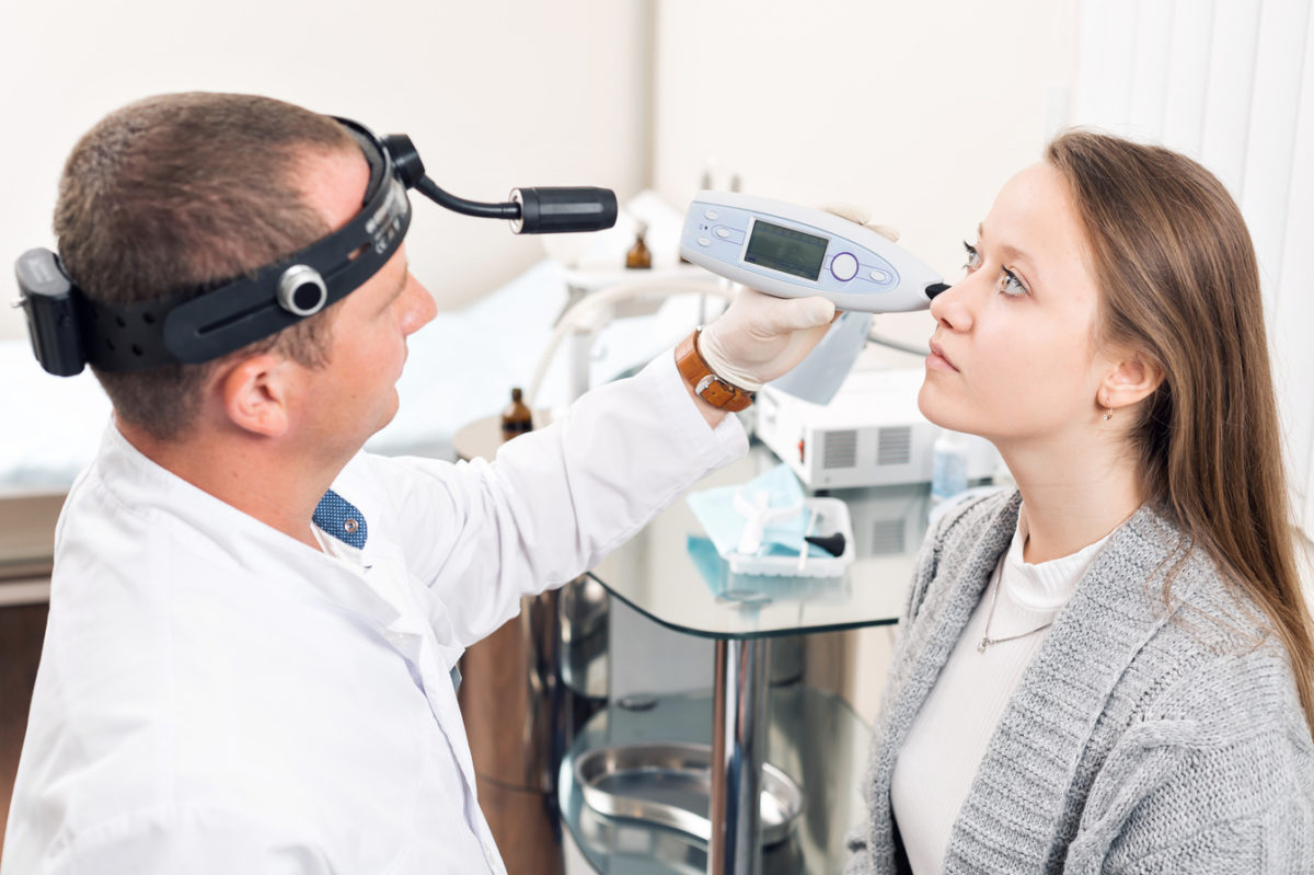 Nose examination