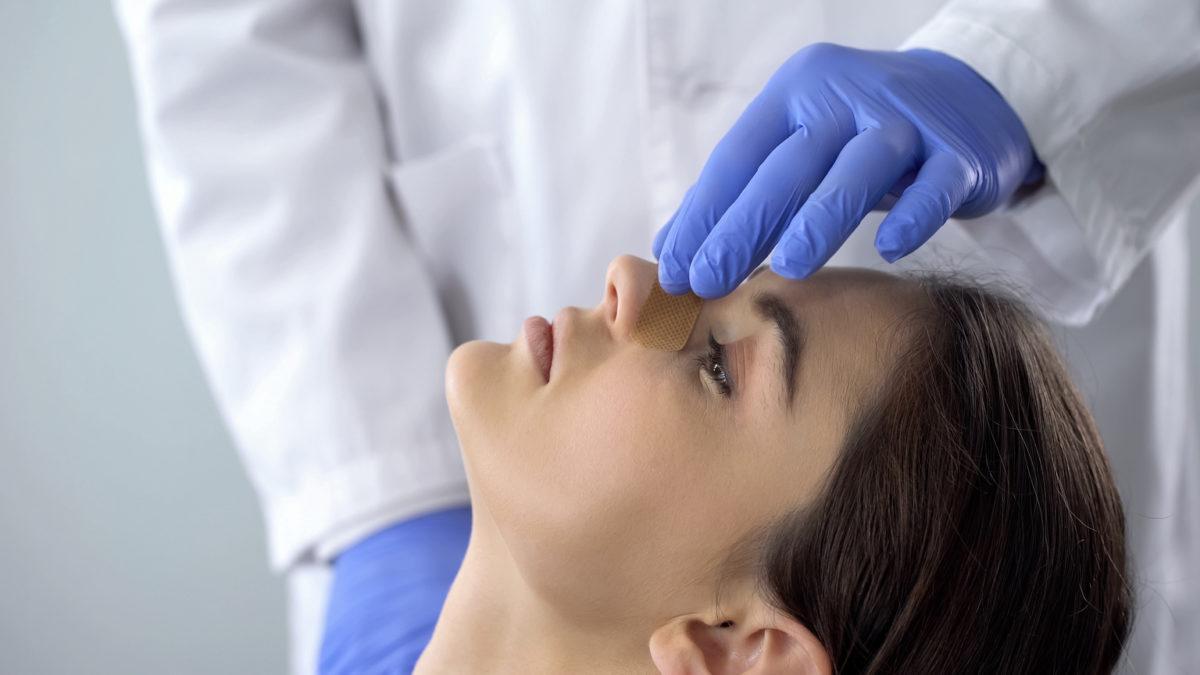Ent Specialist Treating Broken Nose